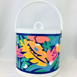 Vintage 80s 90s Tropical Ice Bucket Bar Party